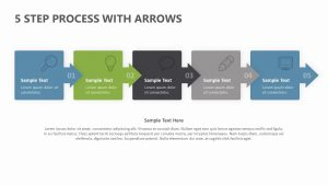 5 Step Process With Arrows