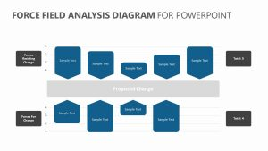 Force Field Analysis Diagram for PowerPoint