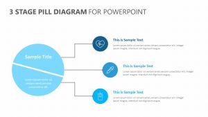 3 Stage Pill Diagram for PowerPoint