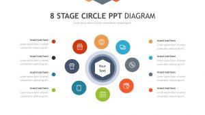 8 Stage Circle PPT Diagram