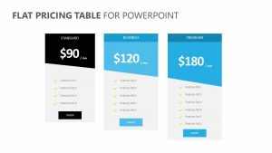 Flat Pricing Table for PowerPoint