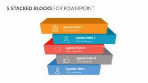 5 Stacked Blocks for PowerPoint