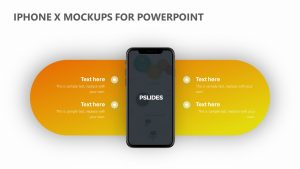iPhone X Mockups for PowerPoint