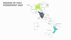 Regions of Italy PowerPoint Map