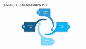 4 Stage Circular Arrow PPT