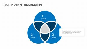 3 Step Venn PPT Diagram