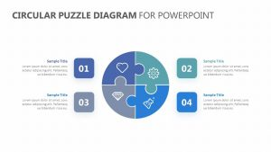 Circular Puzzle Diagram for PowerPoint