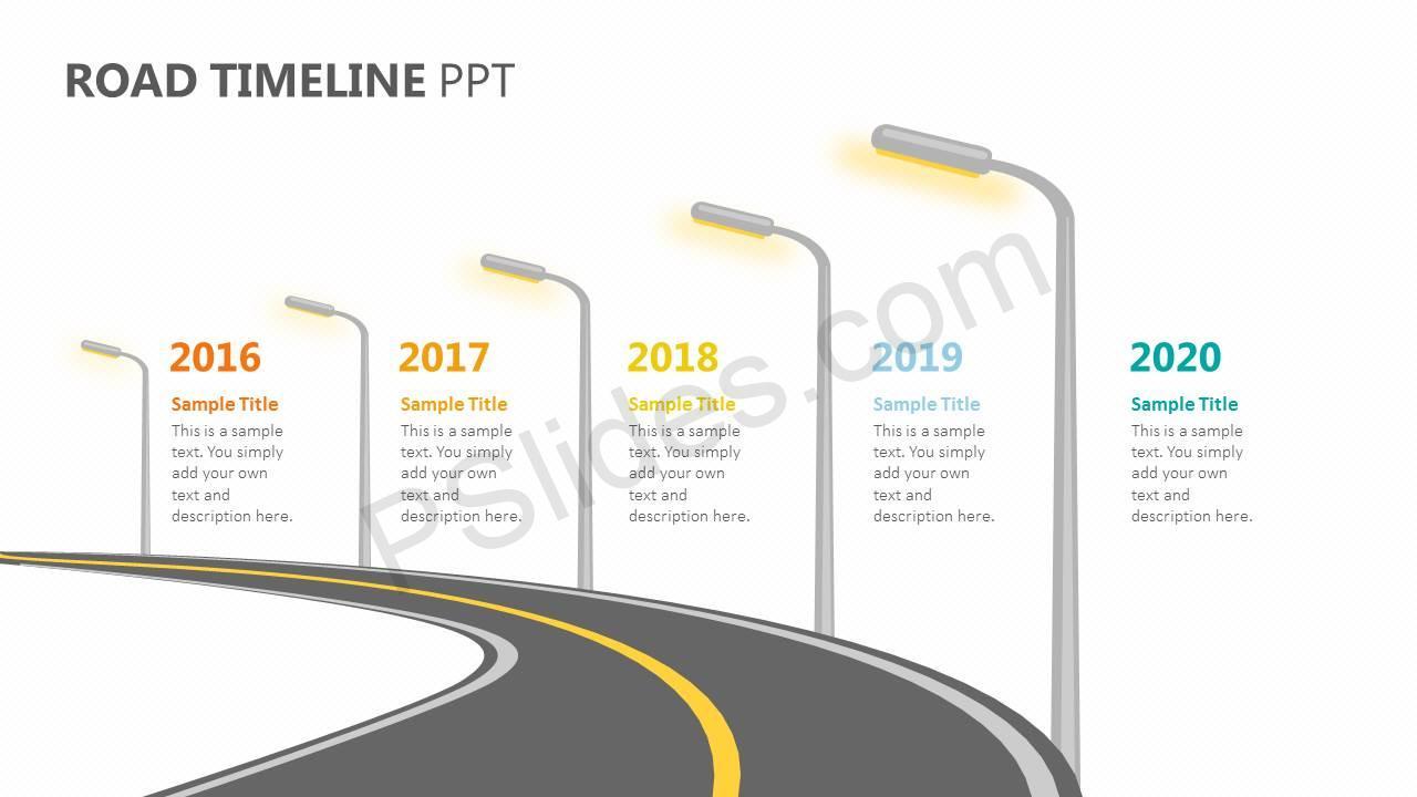 road timeline ppt