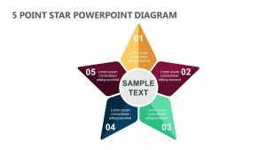5 Point Star PowerPoint Diagram