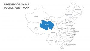 Regions of China PowerPoint Map