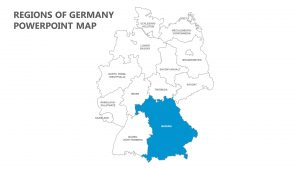 Regions of Germany PowerPoint Map