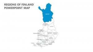 Regions of Finland PowerPoint Map
