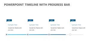 PowerPoint Timeline with Progress Bar