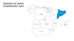 Regions of Spain PowerPoint Map