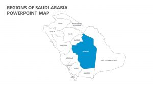 Regions of Saudi Arabia PowerPoint Map