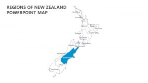 Regions of New Zealand PowerPoint Map