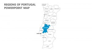 Regions of Portugal PowerPoint Map