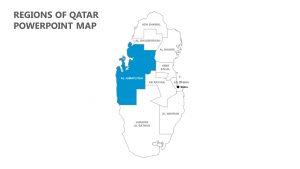 Regions of Qatar PowerPoint Map