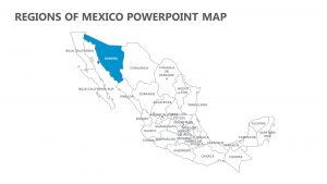 Regions of Mexico PowerPoint Map