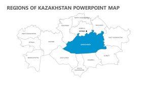 Regions of Kazakhstan PowerPoint Map