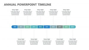Annual PowerPoint Timeline