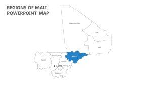 Regions of Mali PowerPoint Map