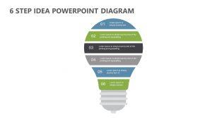 6 Step Idea PowerPoint Diagram