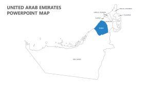 United Arab Emirates PowerPoint Map
