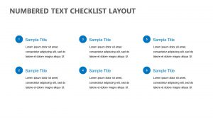 Numbered Text Checklist Layout