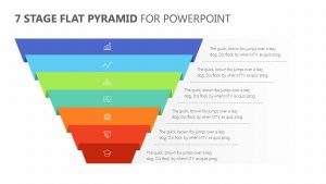 7 Stage Flat Pyramid PowerPoint Diagram