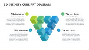 3D Infinity Cube PowerPoint Diagram