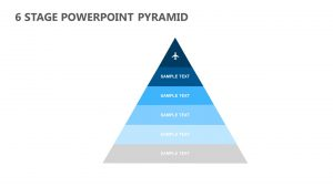 6 Stage PowerPoint Pyramid