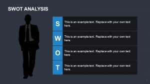 SWOT Analysis with Businessman Silhouette