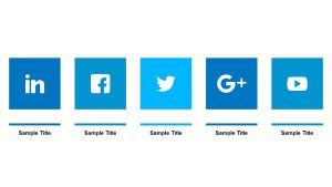 Social Media Icons with Text Boxes
