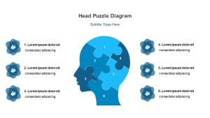 Head Puzzle Diagram for PowerPoint