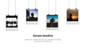 Hanging Polaroid PowerPoint Slide