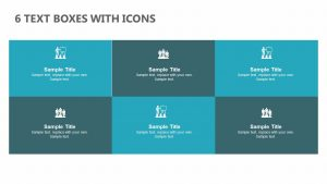 6 Text Boxes with Icons for PowerPoint