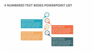 4 Numbered Text Boxes PowerPoint List