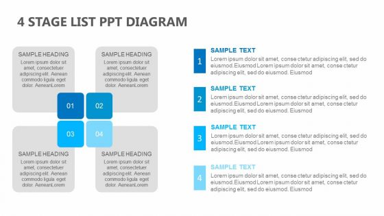 4 stage list powerpoint diagram pslides ccuart Choice Image