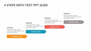 4 Steps with Text PowerPoint Slide
