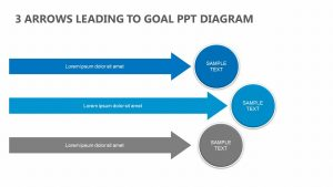 3 Arrows Leading to Goal PowerPoint Diagram