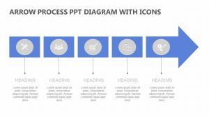 Arrow Process PPT Diagram with Icons