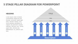 5 Stage Pillar Diagram for PowerPoint
