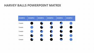 Harvey Balls PowerPoint Matrix