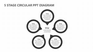 5 Stage Circular PowerPoint Diagram