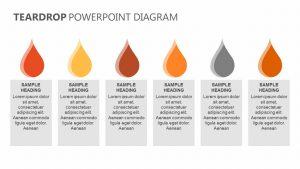 Teardrop PowerPoint Diagram