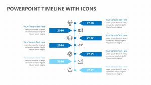 PowerPoint Timeline with Icons