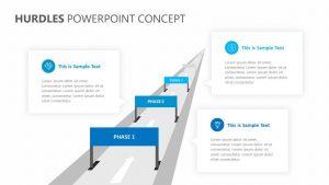 Hurdles PowerPoint Concept