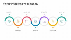 7 Step Process PPT Diagram