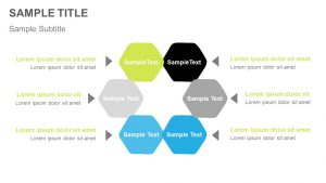6 Hexagon Shapes Process Diagram for PowerPoint
